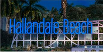 Hallandale Beach City Sign