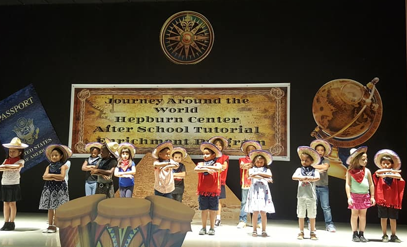 After school Program Year End Performance in 2019. A group of students performing a Mexican dance.