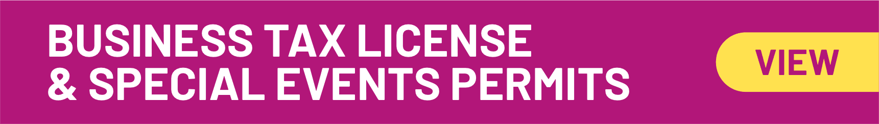 Business Tax License and Special Permits