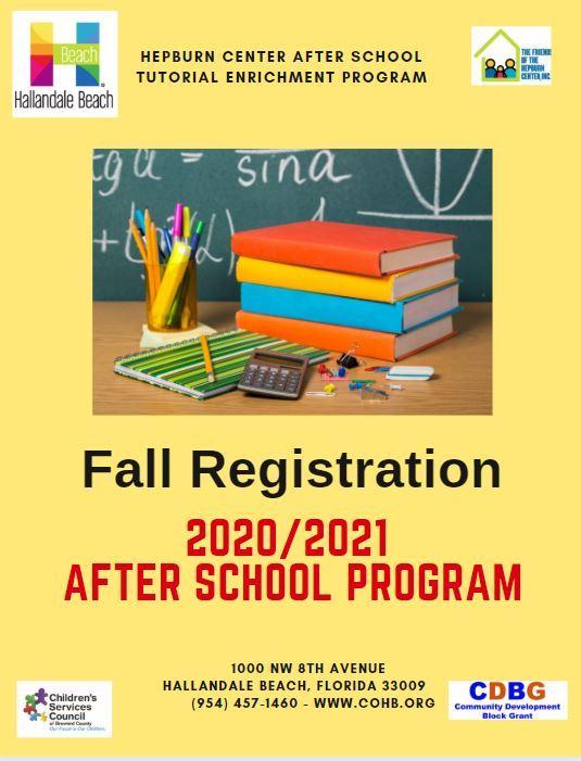 20-21 Fall After School Program Informational Flyer-front side
