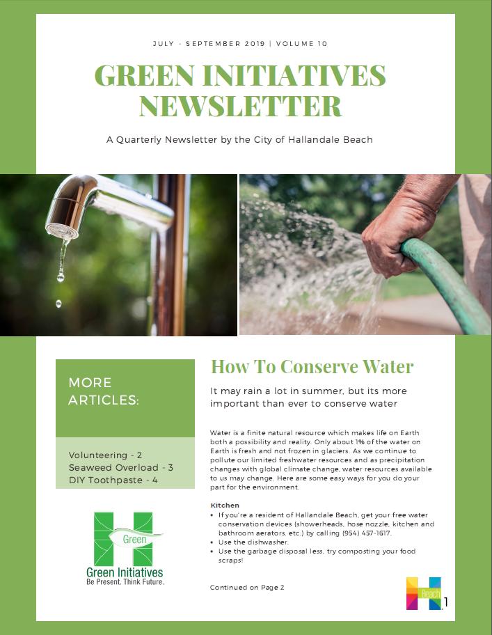 Sustainability/Green Initiatives Program | Hallandale Beach