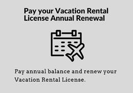 Vacation Rental Renewal Online Payment