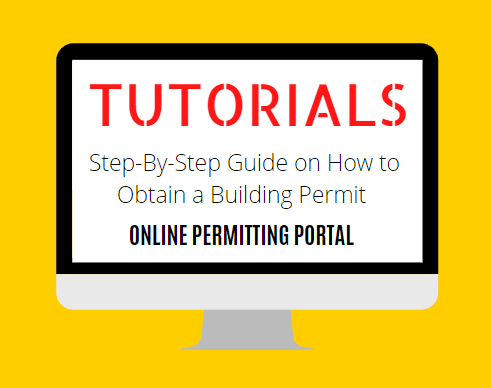 Online Tutorials on Permitting Portal Opens in new window
